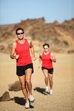 Runners running Stock Photo