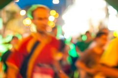 Runners running in city marathon, motion blur on Royalty Free Stock Images