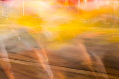 Runners running in city marathon, motion blur on sporty legs Stock Photo