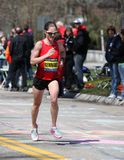 Runners running up Heartbreak Hill Stock Image