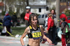 Runners running up Heartbreak Hill Stock Photo