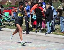 Runners running up Heartbreak Hill Royalty Free Stock Photos
