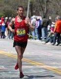 Runners running up Heartbreak Hill Royalty Free Stock Photo