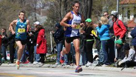 Runners running up Heartbreak Hill Stock Photography