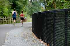 Runners on Sammamish trail Stock Photos