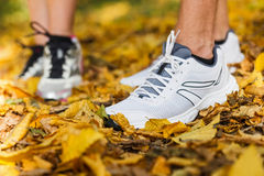 Runners shoes and legs Stock Images