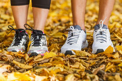 Runners shoes and legs Royalty Free Stock Photos
