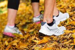 Runners shoes and legs Royalty Free Stock Photo