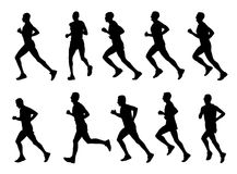 Runners silhouettes Royalty Free Stock Image