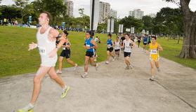 Runners at the Singapore Marathon 2008 Royalty Free Stock Images