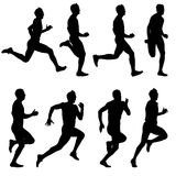 Runners on sprint, men. Royalty Free Stock Photography
