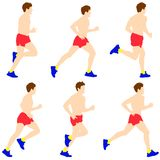 Runners on sprint, men. Royalty Free Stock Images
