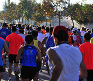 Runners on start of the half marathon Stock Image