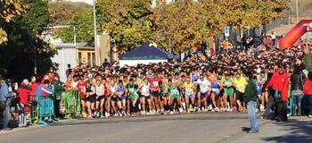 Runners on start of the half marathon Stock Images