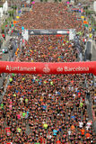 Runners on start of La Cursa de la Merce Royalty Free Stock Photography