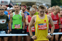 Runners on start of Vilnius Marathon Stock Image