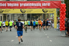 Runners on start of Vilnius Marathon Royalty Free Stock Images