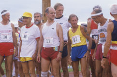 Runners at the starting line Royalty Free Stock Image