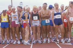Runners at the starting line Royalty Free Stock Photography