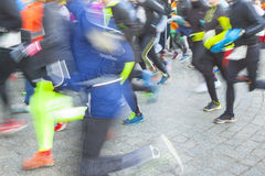 Runners on the street Royalty Free Stock Photos