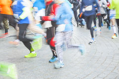 Runners on the street Royalty Free Stock Photo
