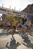 Runners take part in the rememberance race Stock Images