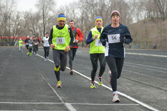 Runners taking part in the competition Royalty Free Stock Photos