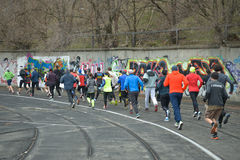 Runners taking part in the competition Stock Images