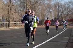 Runners are taking part in the competition Stock Photography