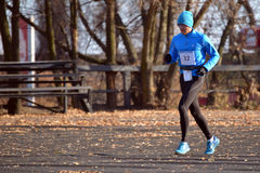 Runners are taking part in the competition Royalty Free Stock Photo