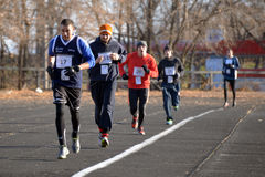 Runners taking part in the competition Stock Image