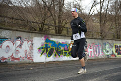 Runners are taking part in the competition Royalty Free Stock Images