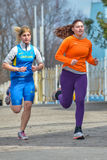 Runners are taking part in regional cross-country race Royalty Free Stock Photography