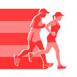 From runners to runners Stock Photo