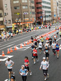 Runners at Tokyo Marathon. Royalty Free Stock Photography