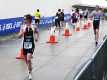 Runners On The Track At The Mazda London Triathlon Royalty Free Stock Photography