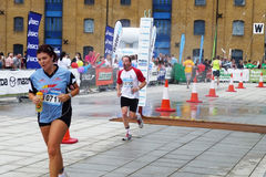 Runners On The Track At The Mazda London Triathlon. London - August 1: Runners On The Track At The Mazda London Triathlon August 1, 2009 in London Royalty Free Stock Image