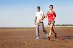 Runners training outdoors working out in nature Royalty Free Stock Photography