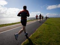 Runners, triathlon stock image