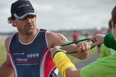Runners, triathlon royalty free stock image