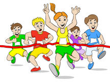 Runners and winner Royalty Free Stock Photography
