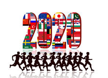 2020 with Runners Stock Image