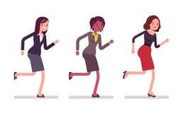 Runnig bizneswomany w formalnej odzieży ilustracji