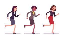 Runnig-Geschäftsfrauen in der formellen Kleidung stock abbildung