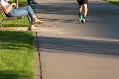 runnig mężczyzna Zdjęcia Royalty Free