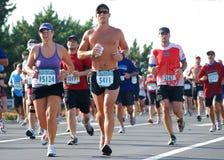 Running 1. Va. Beach, VA -September 06,2009-Rock-N-Roll 1/2 Marathon-Virgina Beach VA, race participants. Photo taken September 6, 2009 Royalty Free Stock Photography