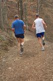 Running. This photo is of two runners stock photography