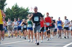 Running 2. Va. Beach, VA -September 06,2009-Rock-N-Roll 1/2 Marathon-Virgina Beach VA, race participants. Photo taken September 6, 2009 Stock Photo