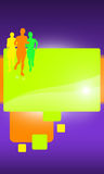 Running. Abstract color Running sport background with space Royalty Free Stock Photography