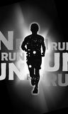 Running. Abstract color Running sport background with space Royalty Free Stock Photo